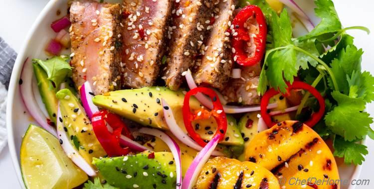 Grilled Tuna Steak Salad