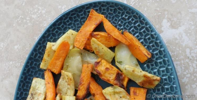 Roasted Sweet Potatoes with Apple