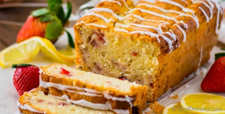 Lemon Strawberry Pound Cake