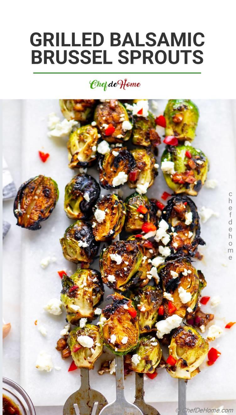 Grilled Brussel Sprout Skewers