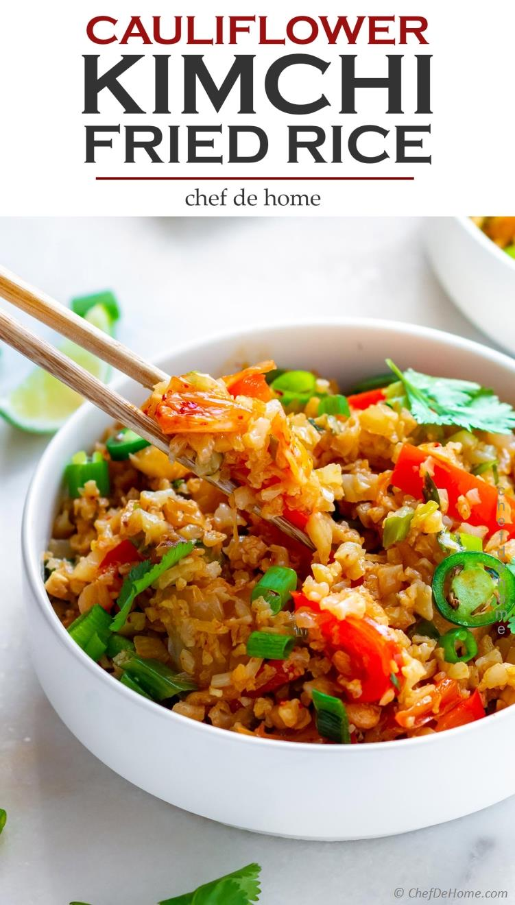 Spicy Cauliflower Kimchi Fried Rice Recipe