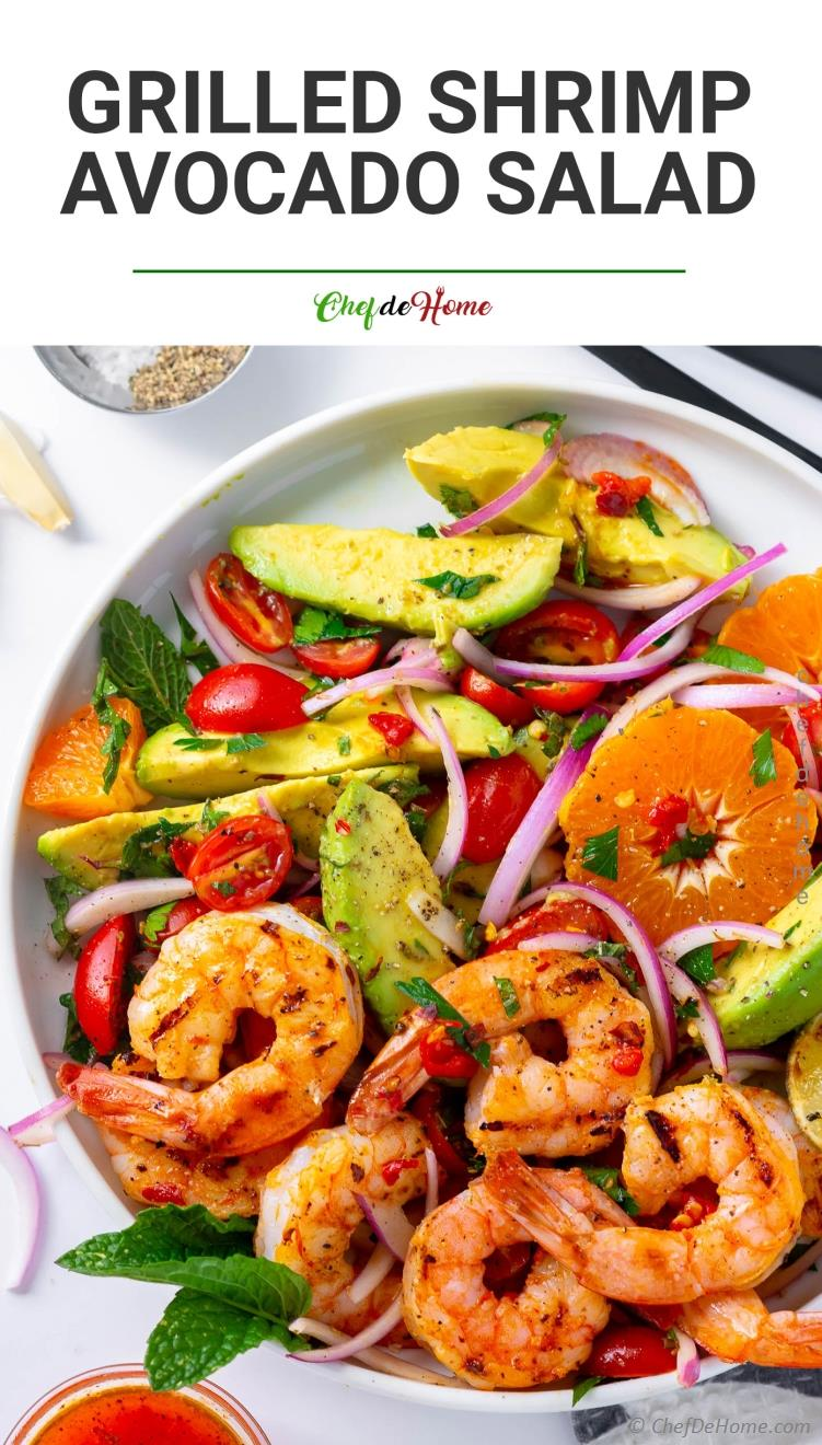 Grilled Shrimp Avocado Salad Recipe