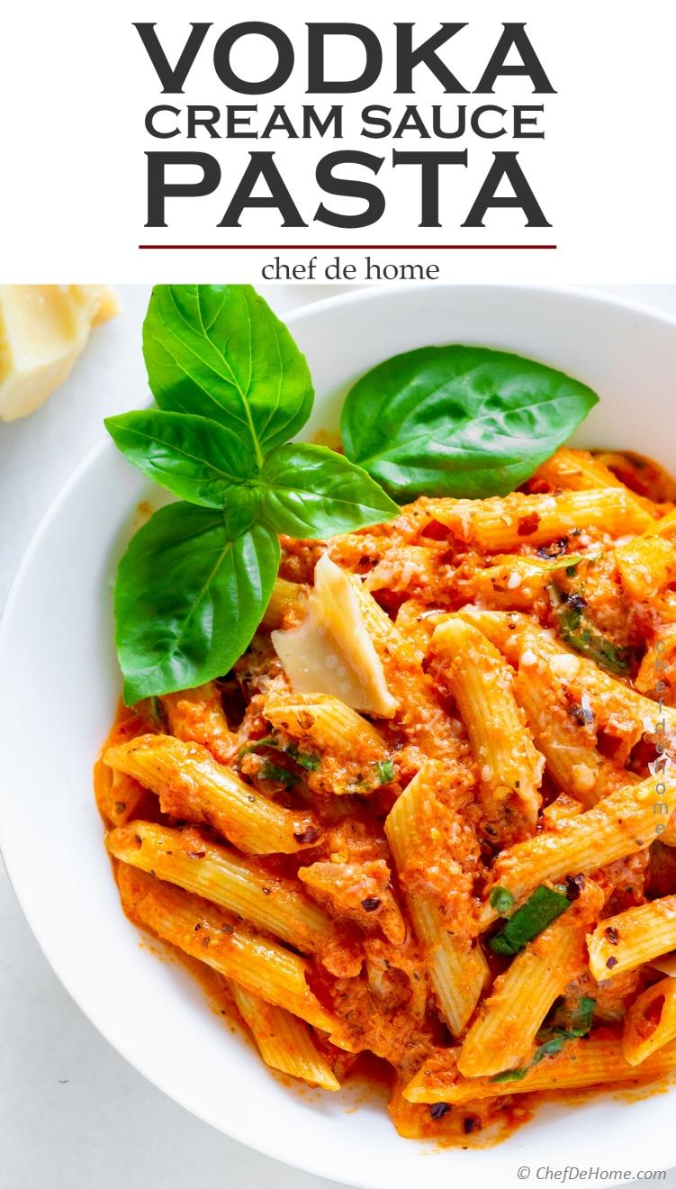 Penne Pasta All Vodka - Pasta with Vodka Cream Sauce Recipe