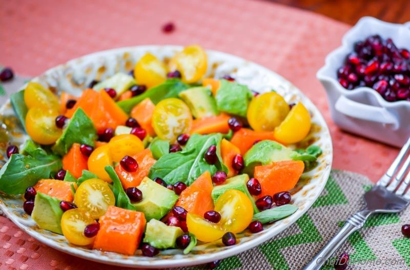 Ripe Papaya and Avocado Salad with Black Salt Dressing ...