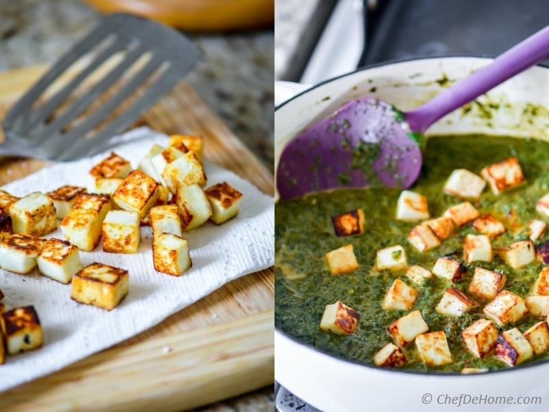 Easy saag curry with fried paneer | chefdehome.com