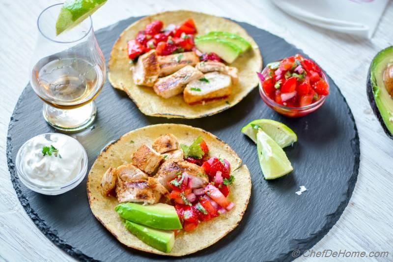 Grilled Chicken Tacos with chicken marinated tequila lime marinade ...
