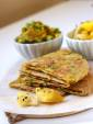 Spiced Potatoes and Peas Stuffed Flat Bread with Preserved Lemons